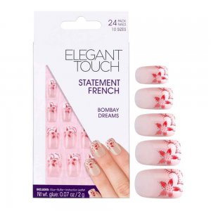 Statement Bombay Dreams French Manicure Nails