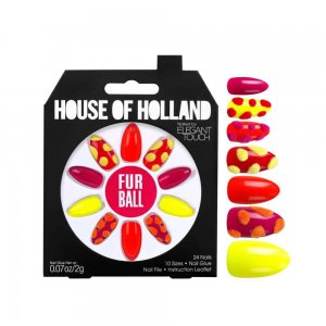 House of Holland Fur Ball Nails