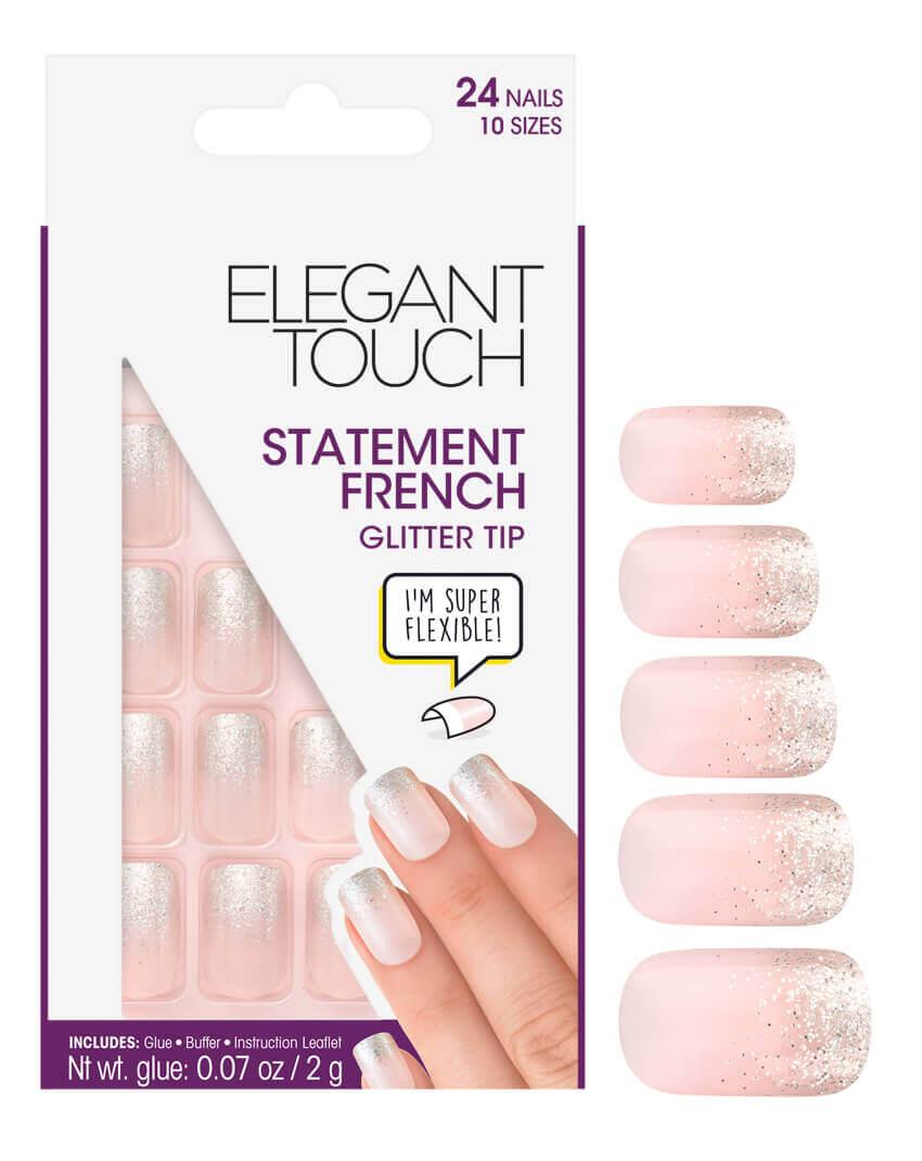 Elegant Touch Glitter Tip