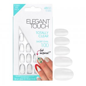 Totally Clear Short Oval Nails 100