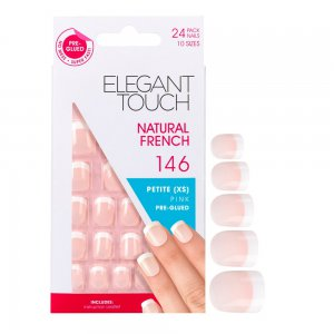 Natural French Manicure Pink Nails 146 (Petite)