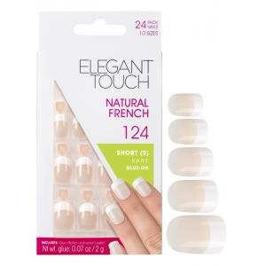 Natural French Manicure Bare Nails 124 (Short)