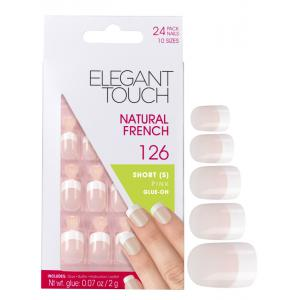Natural French Manicure Pink Nails 126 (Short)