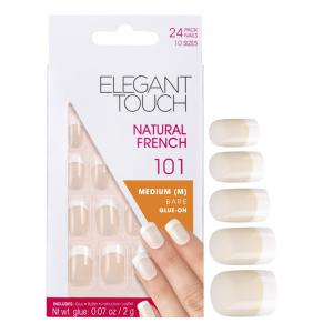 Natural French Manicure Bare Nails 101 (Medium)