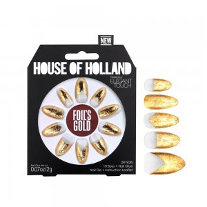 House of Holland Foil's Gold Nails