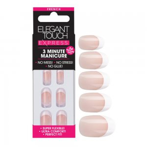 Express French Oval Pink Nails