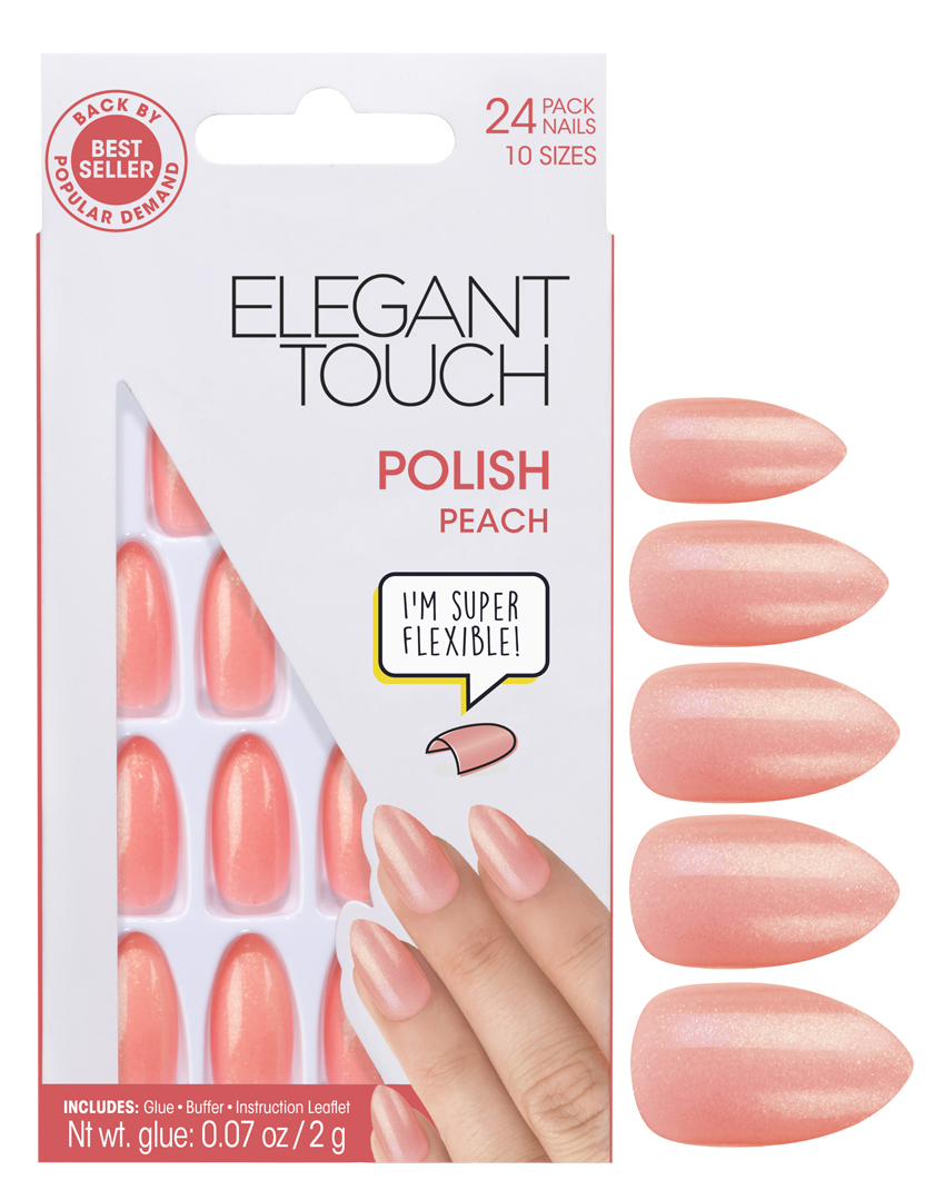 Peach | Colour Collection | Press-On Nails | Elegant Touch