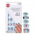 Elegant Touch Let It Snow Christmas nails