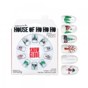 House of Holland Christmas Snow Globe Nails