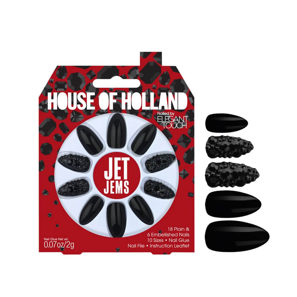 Elegant Touch House of Holland Jet Jems nails