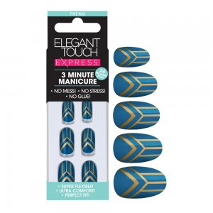 Express Teal Deco Nails