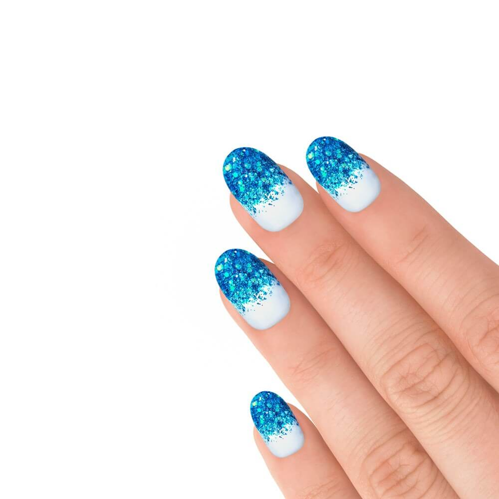 Elegant Touch Express Blue Glitter