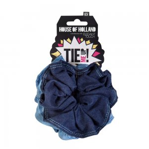 House of Holland Denim Scrunchies