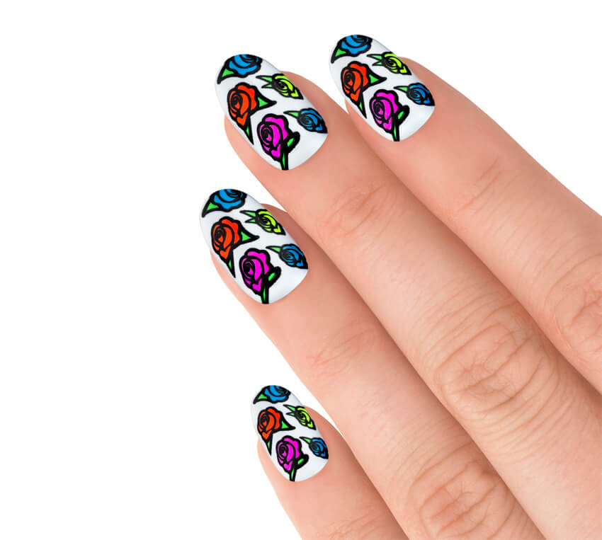 Express Neon Roses-2795