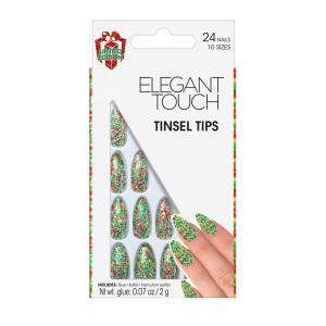 Tinsel Tips Nails
