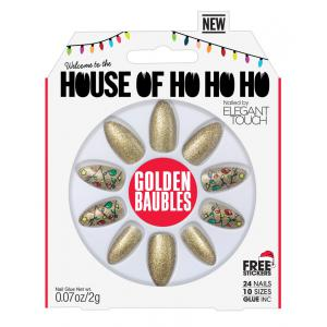 House of Holland Golden Baubles Nails
